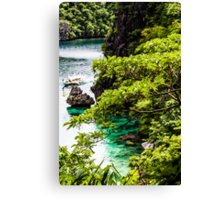 Tropical seashore in Philippines. Canvas Print