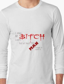 Loves Bitch - Spike Quote Long Sleeve T-Shirt