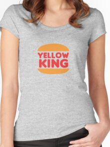 Yellow King Logo Women's Fitted Scoop T-Shirt