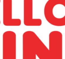 Yellow King Logo Sticker