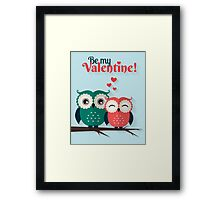 Lovers owls Framed Print