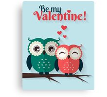 Lovers owls Canvas Print