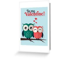 Lovers owls Greeting Card