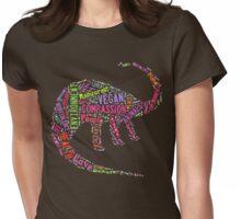 Vegan Dinosaur Womens Fitted T-Shirt