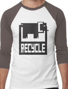 go green - recycle your waste Men's Baseball ¾ T-Shirt