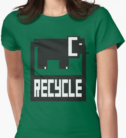 go green - recycle your waste Womens Fitted T-Shirt