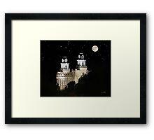 Manti Utah Temple - Full Moon 20x16 Framed Print