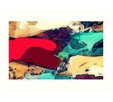 LAND AND SEA (landscape) Art Print
