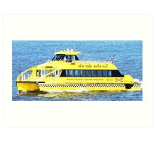 New York - Water Taxi Art Print