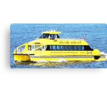 New York - Water Taxi Canvas Print