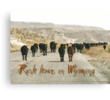Rush hours in Wyoming Canvas Print