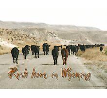 Rush hours in Wyoming Photographic Print