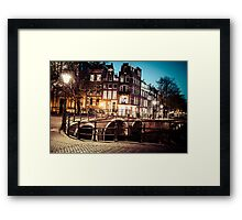 Amsterdam at night Framed Print