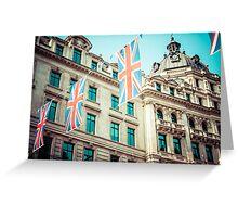 Regent Street in London Greeting Card