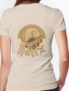 Helix Fossil - Back Womens Fitted T-Shirt