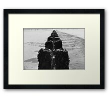 Break water at Bridlington Framed Print