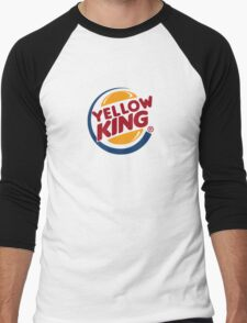 Yellow King Logo 2 Men's Baseball ¾ T-Shirt