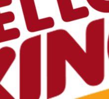 Yellow King Logo 2 Sticker