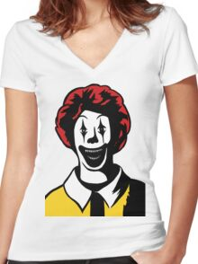 McDemon Women's Fitted V-Neck T-Shirt