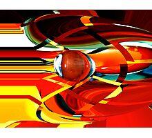bullet-through-time-warp  Photographic Print