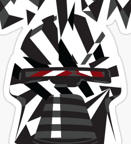 Dazzle Camo Cylon - Battlestar Galactica Sticker