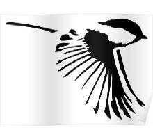 Small Bird in Flight Poster