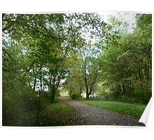Peninsula path in early autumn Poster