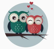 Lovers owls Kids Tee