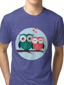 Lovers owls Tri-blend T-Shirt