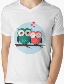 Lovers owls Mens V-Neck T-Shirt