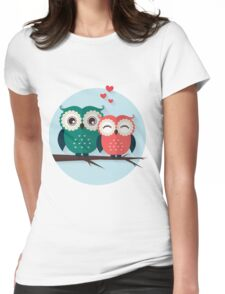 Lovers owls Womens Fitted T-Shirt