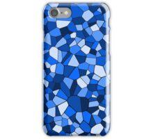 Monochrome Blue Geometric Mosaic Pattern iPhone Case/Skin