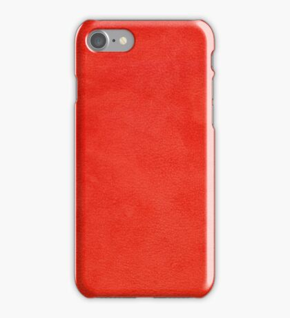 Red leather texture iPhone Case/Skin