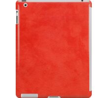 Red leather texture iPad Case/Skin