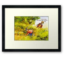 Sneaky thief Framed Print