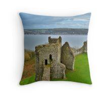 Llansteffan Castle Throw Pillow