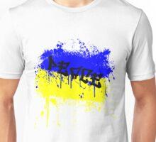 Peace- Ukraine flag colors Unisex T-Shirt