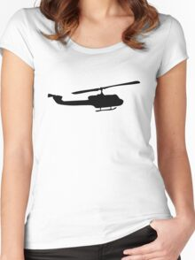 Helicopter Women's Fitted Scoop T-Shirt