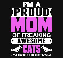 I'M A PROUD MOM OF CATS Womens Fitted T-Shirt