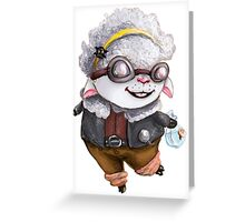 GoggleSheep - Kina Greeting Card