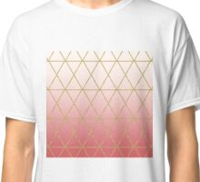 Rose Gold Geometric Classic T-Shirt