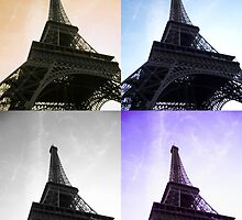 Coloured Eiffel Towers by invisiblegirl
