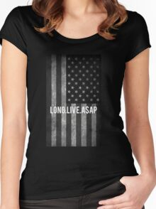 ASAP ROCKY FLAG Women's Fitted Scoop T-Shirt