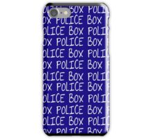 the POLICE BOX shirt iPhone Case/Skin