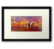 Tuscan landscape with cypresses and hills Framed Print