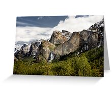Waterfall Valley Greeting Card