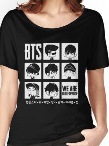 BTS WE ARE BULLETPROOF Chibi Women's Relaxed Fit T-Shirt