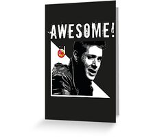 Dean Winchester from Supernatural Awesome Greeting Card