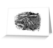 Abstract monotype #1 Greeting Card