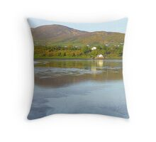 Irish Cottages In Donegal Throw Pillow
